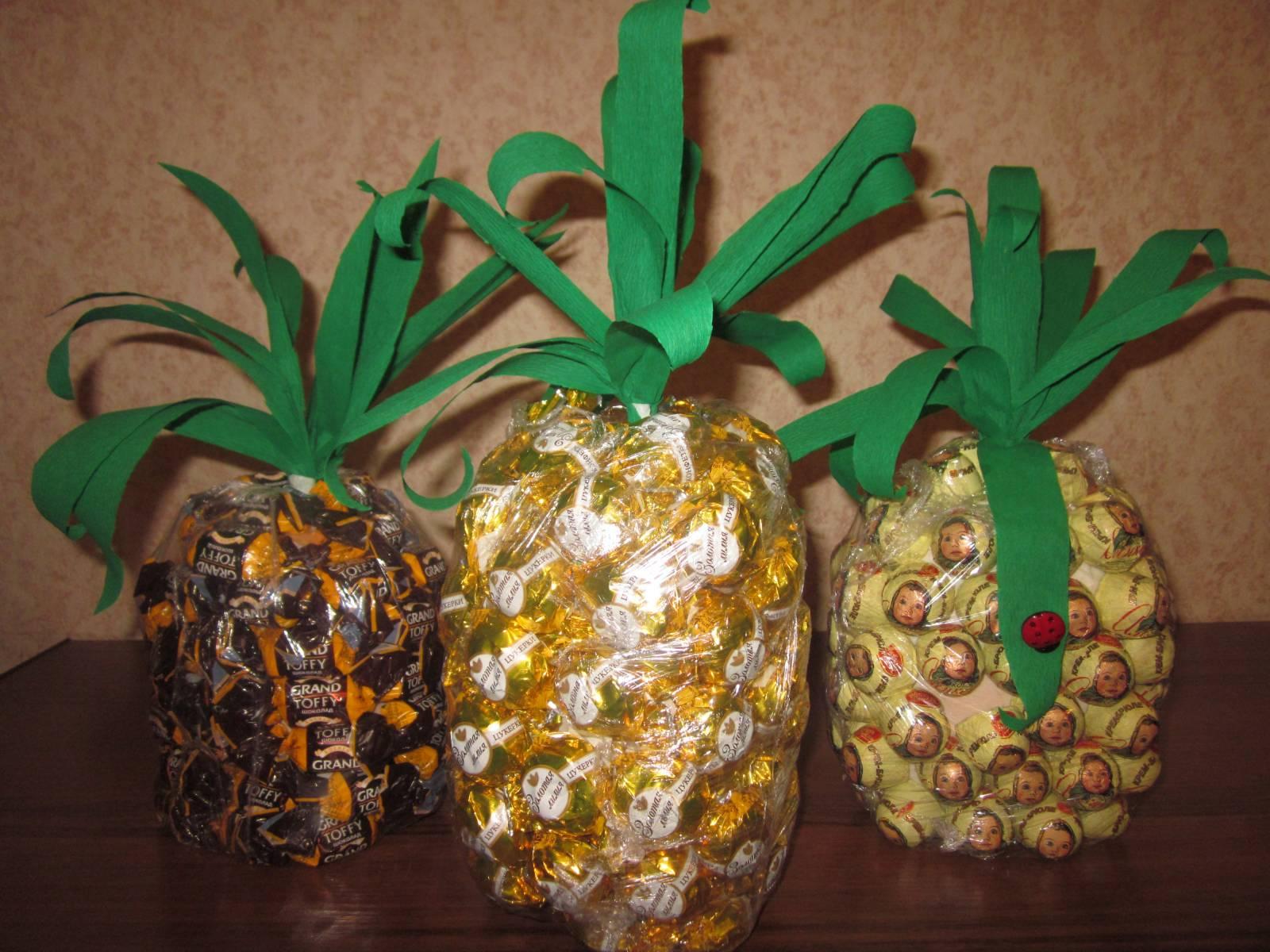 Как ананас из конфет своими руками пошаговое